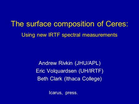 The surface composition of Ceres: Using new IRTF spectral measurements
