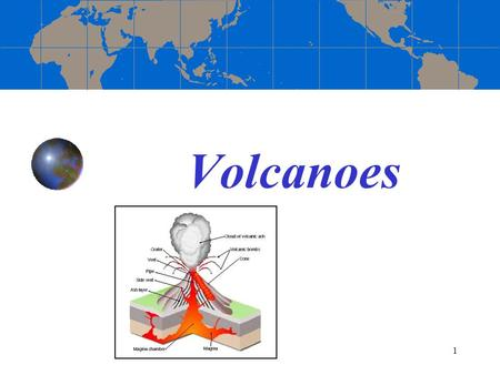 1 Volcanoes. 2 Different Volcanic Settings 3 Types of Eruptions Eruptions will generally be of two types: Quiet (Rift) eruptions Explosive (Subduction)