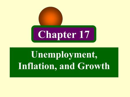 Chapter 17 Unemployment, Inflation, and Growth. 2 Introduction In Chapter 4, 5, 6, we have studied a classical model of the complete economy, but said.