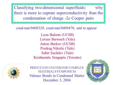 Classifying two-dimensional superfluids: why there is more to cuprate superconductivity than the condensation of charge -2e Cooper pairs cond-mat/0408329,