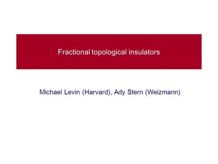 Fractional topological insulators