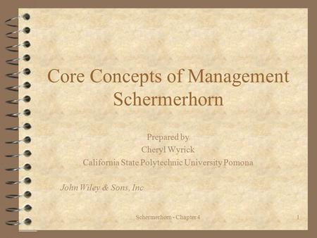 Core Concepts of Management Schermerhorn