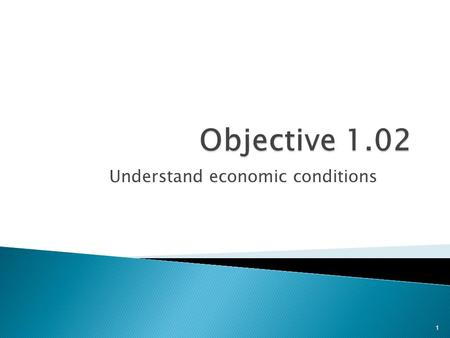 Understand economic conditions 1.  Measuring economic activities  Classifying economic conditions 2.