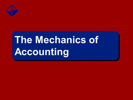 The Mechanics of Accounting.