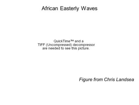 African Easterly Waves Figure from Chris Landsea.