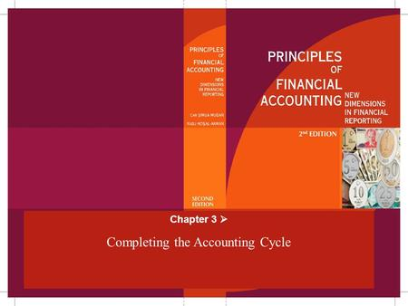 Chapter 3  Completing the Accounting Cycle. Chapter 3Mugan-Akman 20052-38 Accounting Cycle Analyze and record the transactions Post the transactions.