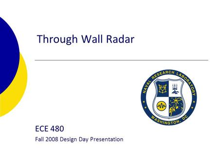 Through Wall Radar ECE 480 Fall 2008 Design Day Presentation.