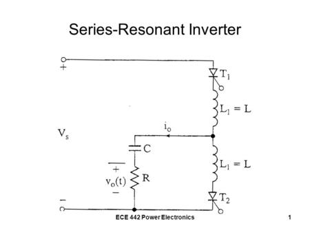 ECE 442 Power Electronics1 Series-Resonant Inverter.