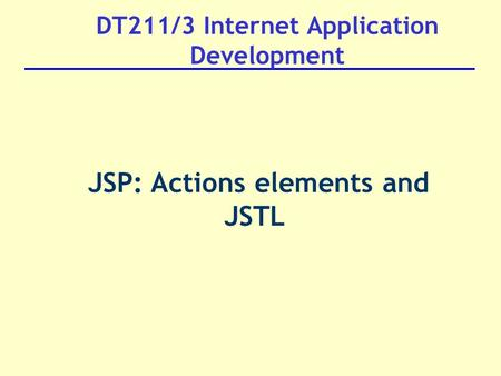 DT211/3 Internet Application Development