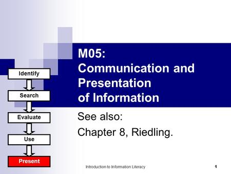 information needs and sources A library may meet user's information needs by acquiring, organising and making available relevant information resources backed by appropriate facilities and delivered by means best known to them, which could be manual or through information and communication technologies (icts)  therefore, satisfaction is a function of three main sources.