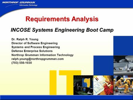 Requirements Analysis INCOSE Systems Engineering Boot Camp
