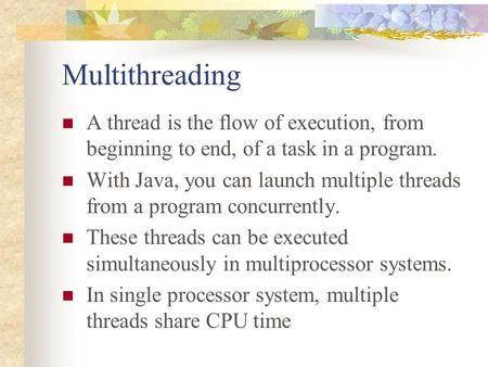 multithreading in java tutorial