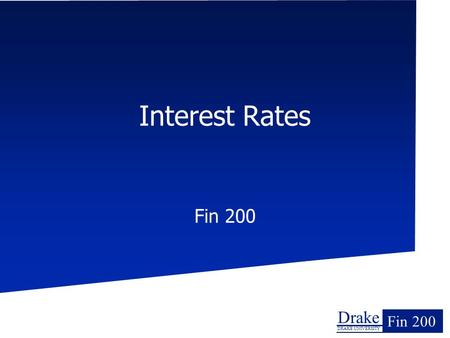 Interest Rates Fin 200.