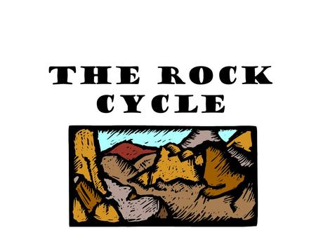 The Rock Cycle. Rocks Rock- mixture of minerals, glass, or organic matter compacted together examples: granite, limestone, obsidian.