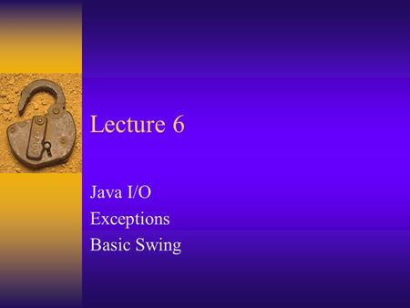 CSPP51036 Java Programming Instructor: Andrew Siegel  - ppt