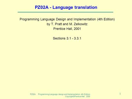 PZ02A - Language translation