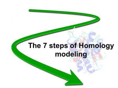 The 7 steps of Homology modeling. 1: Template recognition and initial alignment.