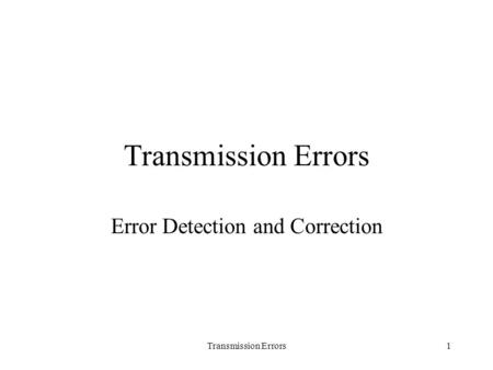 error detection and correction in data communication pdf