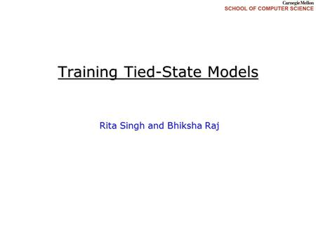 Training Tied-State Models