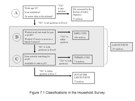 Figure 7.1 Classifications in the Household Survey.
