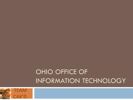 OHIO OFFICE OF INFORMATION TECHNOLOGY. Even the agents are suffering…