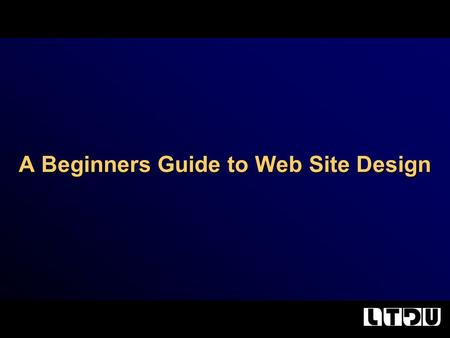A Beginners Guide to Web Site Design. What we will cover…. Planning your site. Creating a template. Images and Fonts. Absolute vs. Relative Links.