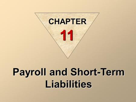 Payroll and Short-Term Liabilities