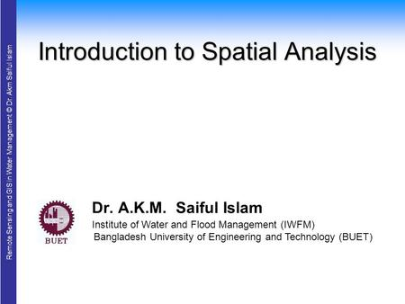 Introduction to Spatial Analysis