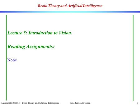 Brain Theory and Artificial Intelligence