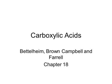 Bettelheim, Brown Campbell and Farrell Chapter 18