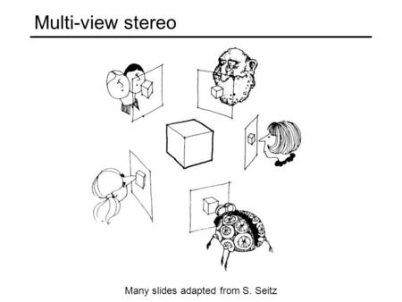 Multi-view stereo Many slides adapted from S. Seitz.