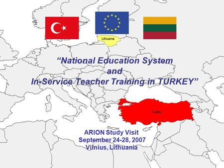 """National Education System In-Service Teacher Training in TURKEY"""