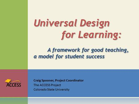Universal Design. for Learning: