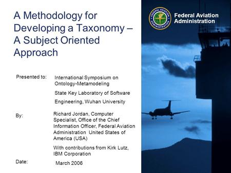 A Methodology for Developing a Taxonomy – A Subject Oriented Approach