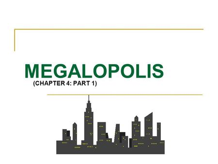 MEGALOPOLIS (CHAPTER 4: PART 1). Your Mental Image?