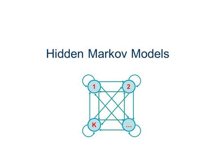 Hidden Markov Models K 1 … 2. Outline Hidden Markov Models – Formalism The Three Basic Problems of HMMs Solutions Applications of HMMs for Automatic Speech.
