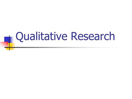 Qualitative Research. Comparing Qualitative and Quantitative Methods Before discussing the differences between qualitative and quantitative methodologies.