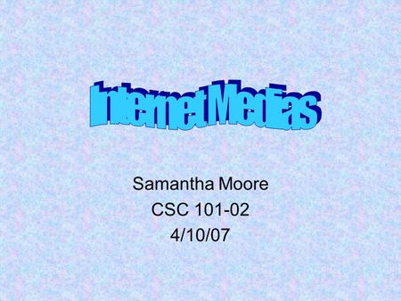 Samantha Moore CSC 101-02 4/10/07. A podcast is a digital media file that is shared over the web using syndication feeds, for playback on portable players.