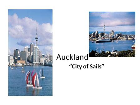 "Auckland ""City of Sails"". Work Citied"