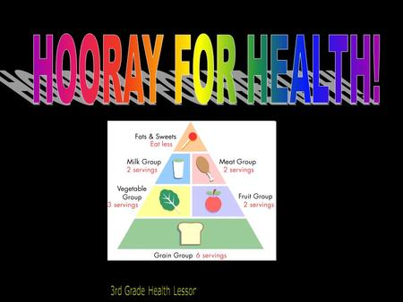 HOORAY FOR HEALTH! 3rd Grade Health Lesson.