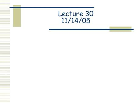 Lecture 30 11/14/05. Spectrophotometry Properties of Light h = 6.626 x 10 -34 J-s c = 3.00 x 10 8 m/s.