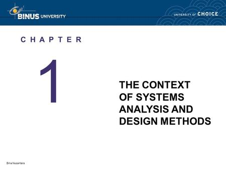 Chapter 1 The Context Of Sa D Methods Ppt Video Online Download