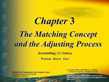 The Matching Concept and the Adjusting Process