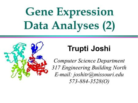 Gene Expression Data Analyses (2)