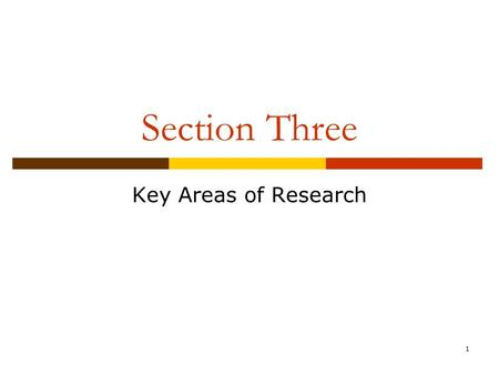 1 Section Three Key Areas of Research. 2 Chapter 11 Effects of Media Violence.