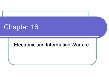Chapter 16 Electronic and Information Warfare. Basics Electronic Attack Deception Soft Kill/Hard Kill Electronic protection Electronic Support.