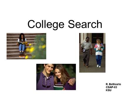 College Search. Career Options & Search Educational Opportunities –What type of schooling is required? Differences Between H.S. & College College Preferences.