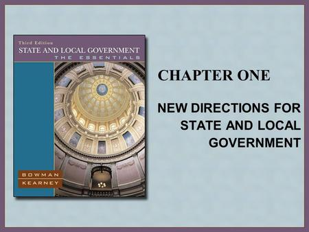 NEW DIRECTIONS FOR STATE AND LOCAL GOVERNMENT