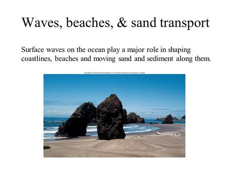 Waves, beaches, & sand transport