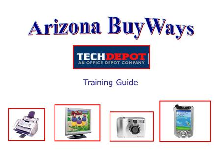 Training Guide. The Punch Out Catalog System The Punch Out shopping catalog for Tech Depot takes the user directly into the vendor's website and online.